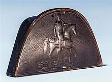 Napoleon interest - A 19th century French pressed horn snuff box in the form of Napoleon's bicorn hat,
