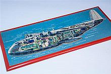 A Victory Imperial Airways Empire Flying Boat 'cut-away' jigsaw 1930s,