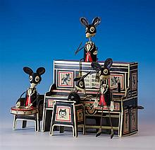 A Louis Marx Merrymakers tinplate clockwork toy Mouse Band 1920s-30s,