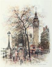 Alex Jawdokimov (Russian, b.1937) ''Houses of Parliament, London''ltd. ed. print, signed and dated 1996 lower left,