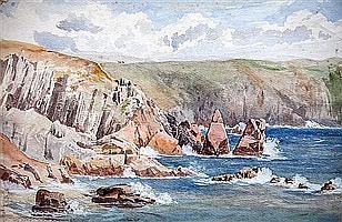 Vincent Perronet Sells, R.A. (British, 1827-c.1895) All Saints Bay, Guernsey