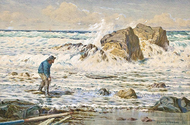 A watercolour by Byron Cooper - After the storm