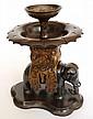 An Oriental bronze elephant incense burner 19th century,