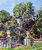 Duncan Grant (Scottish, 1885-1978) Ornamental urns in Charleston garden
