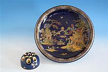 A Carlton Ware New Mikado pattern shallow fruit bowl mid-1920s, pattern no. 2728,