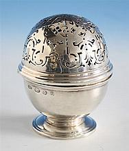 A Channel Islands Britannia Standard silver pot pourri Martyn Guille, Guernsey 1992,