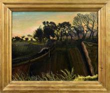 Sir Francis Ferdinand Maurice Cook Bt. (British, 1907-1978) Evening Sketch, Skyline at Mont de la Rocque, St Aubin,