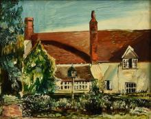 "Sir Francis Ferdinand Maurice Cook Bt. (British, 1907-1978) ""Ralph's Cottage, Kent"", Early Morning Sunshineoil on panel,"