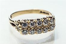An 18ct yellow gold and diamond ring early 20th century,