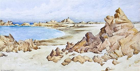 Ethel Sophia Cheeswright (British, 1874-1977) Grande Rocques, Guernsey