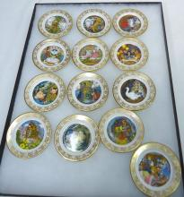 13 Miniature Franklin Fairy Tale Plates