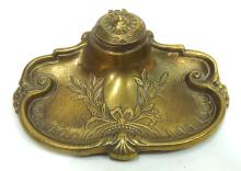 Victorian Style Brass Inkwell