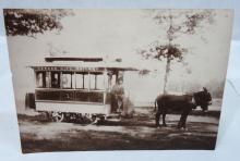 Photograph of Trolley Car & Mules