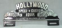 Modern Hollywood License Plate Topper