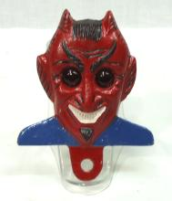 Modern Red Devil License Plate Topper