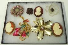 Lot of Nice Costume Brooches