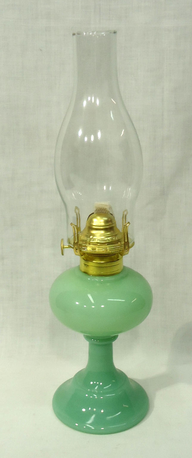 Modern Jadeite Oil Lamp