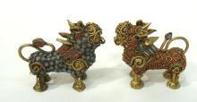 2 Oriental Foo Lions