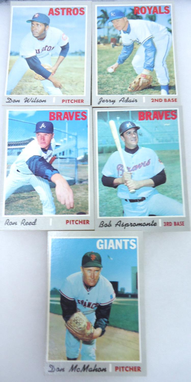 5 1970 Topps Baseball Cards