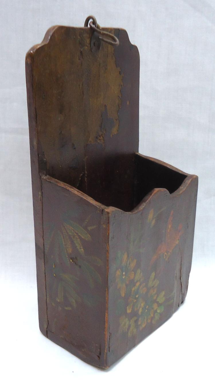 Wooden Primitive Hanging Wall Box