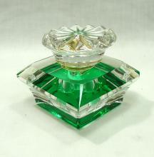 Green & Crystal Perfume Bottle