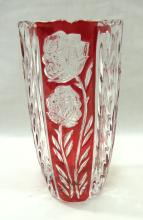 Ruby to Clear Vase