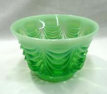 Moser Green Opal. Bowl