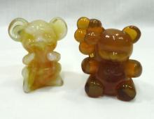 2 Boyd Glass Teddy Bears