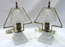 Pr Art Deco Boudoir Lamps