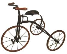 Early Wooden Wheel Tricycle