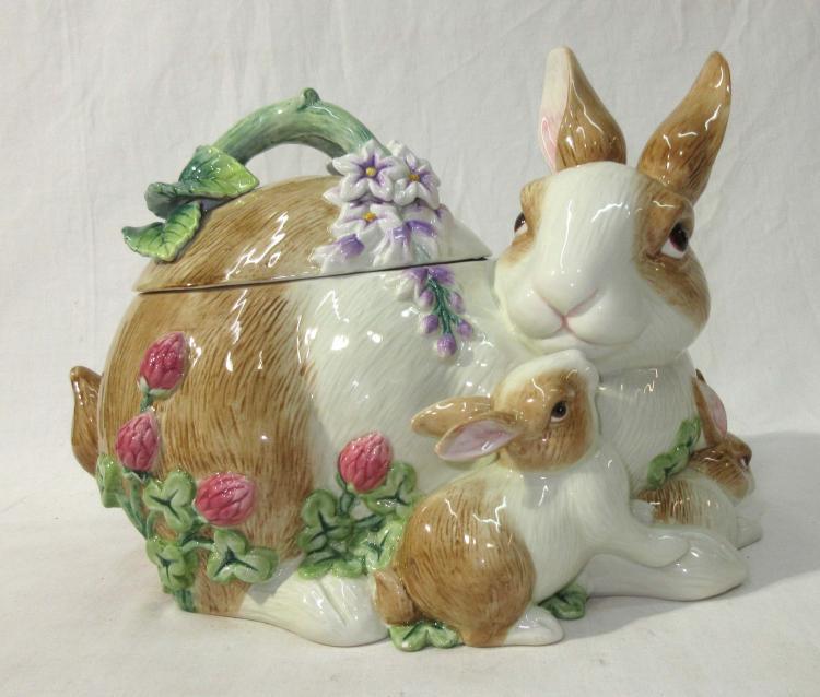 Fitz \u0026 Floyd Bunny Cookie Jar & Fitz \u0026 Floyd China for Sale at Online Auction   Buy Rare Fitz ...