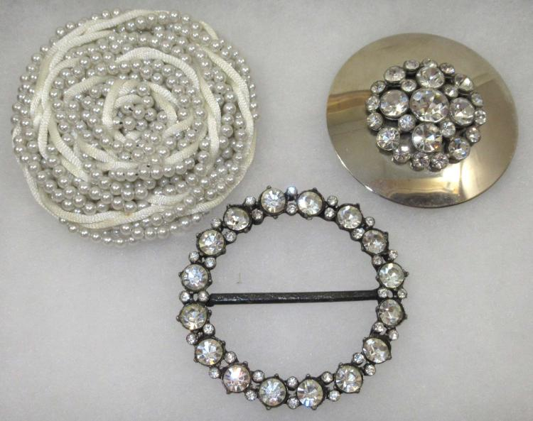 3 Vintage Belt Ornaments