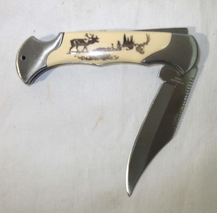 Elk Handle Pocket Knife