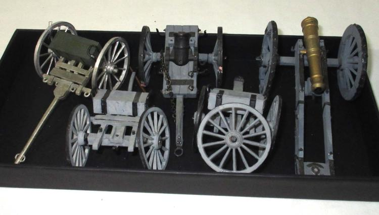 Lot Lead Ammo Wagons & Cannons