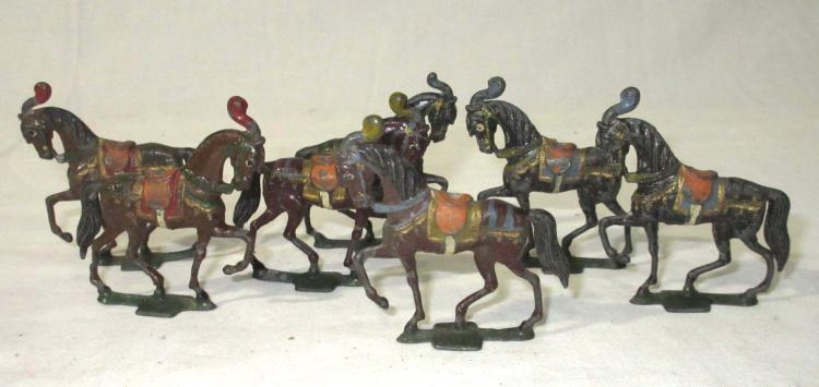 Lot of Lead Knights Horses