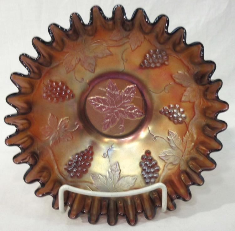 Carnival Glass Bowl Grapes