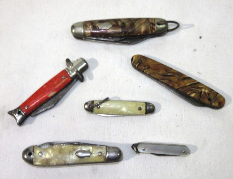 6 Various Pocket Knives