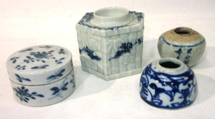 Porcelain Ink Wells, Etc