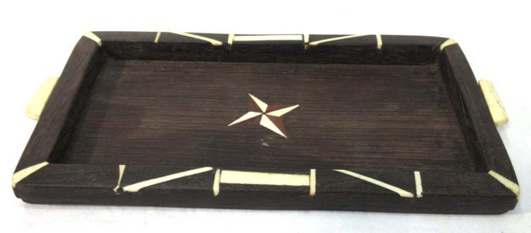 Wooden Tray w/ Bone Inlay