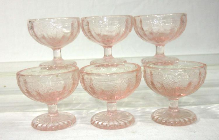 Set of 6 Pedestal Salts