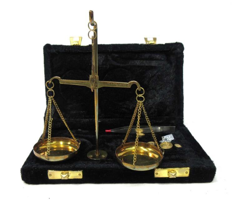 Modern Set of Gold Scales