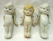 3 Japan Bisque Dolls