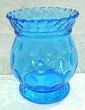 Blue Thumbprint Spooner