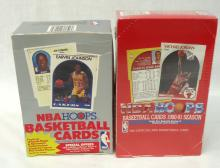 1989 & 1990/91 Boxes Hoops Basketball Cards
