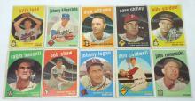 10 Topps 1959 Baseball Cards