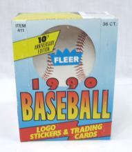 Full Box 1990 Fleer Baseball Cards