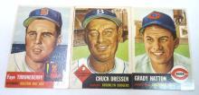 3 Topps 1953 Baseball Cards