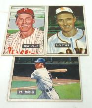 3 Bowman 1951 Baseball Cards
