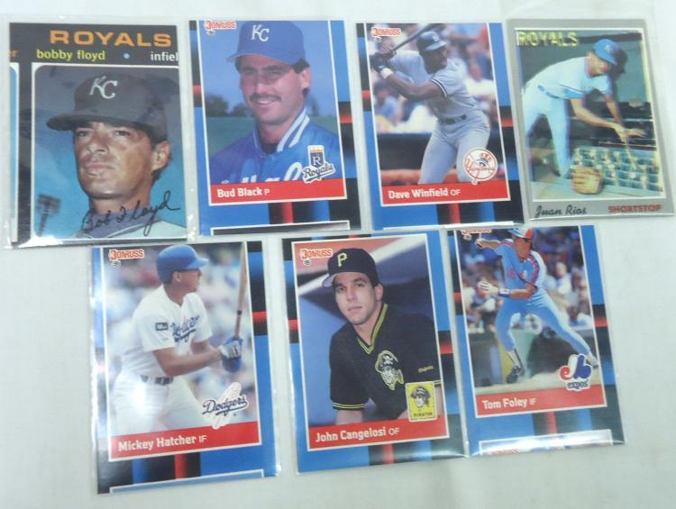 21 Error Baseball Cards