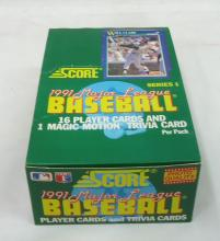 Full Box 1991 Score Baseball Cards